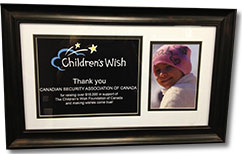 Children't Wish Foundation Plaque